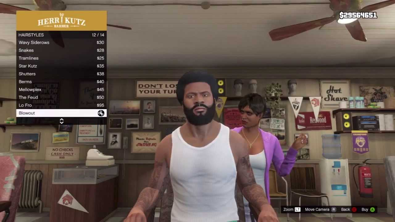 Gta V How To Unlock Bonus Hairstyles Trevor Franklin Michael