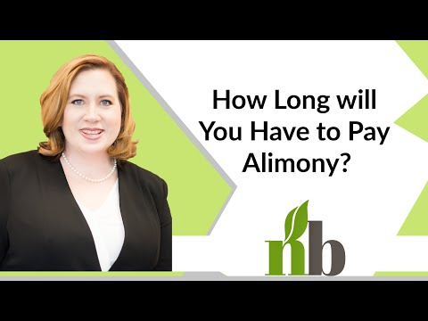 why do you pay alimony