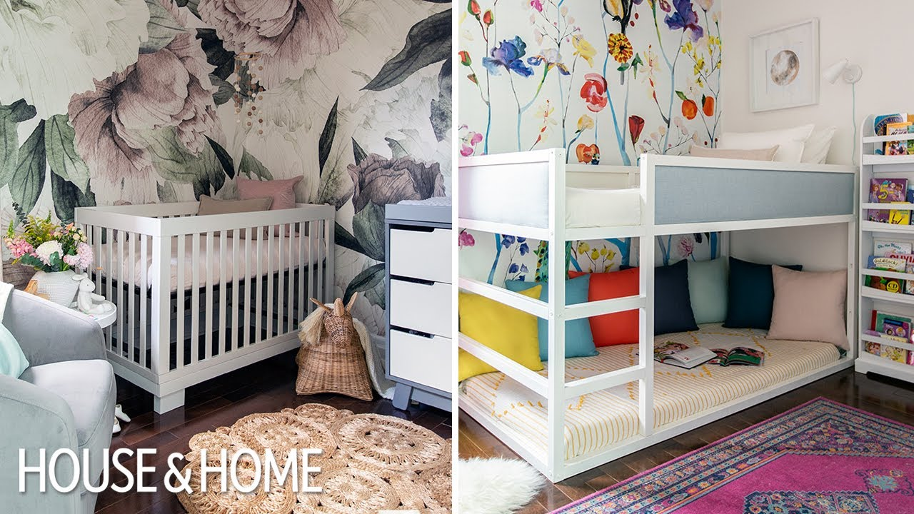 Room Tour Two Pretty Practical Little Girls Bedrooms Youtube