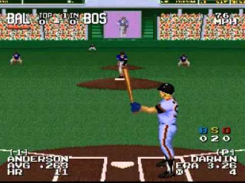 Sporting News Power Baseball SNES Gameplay