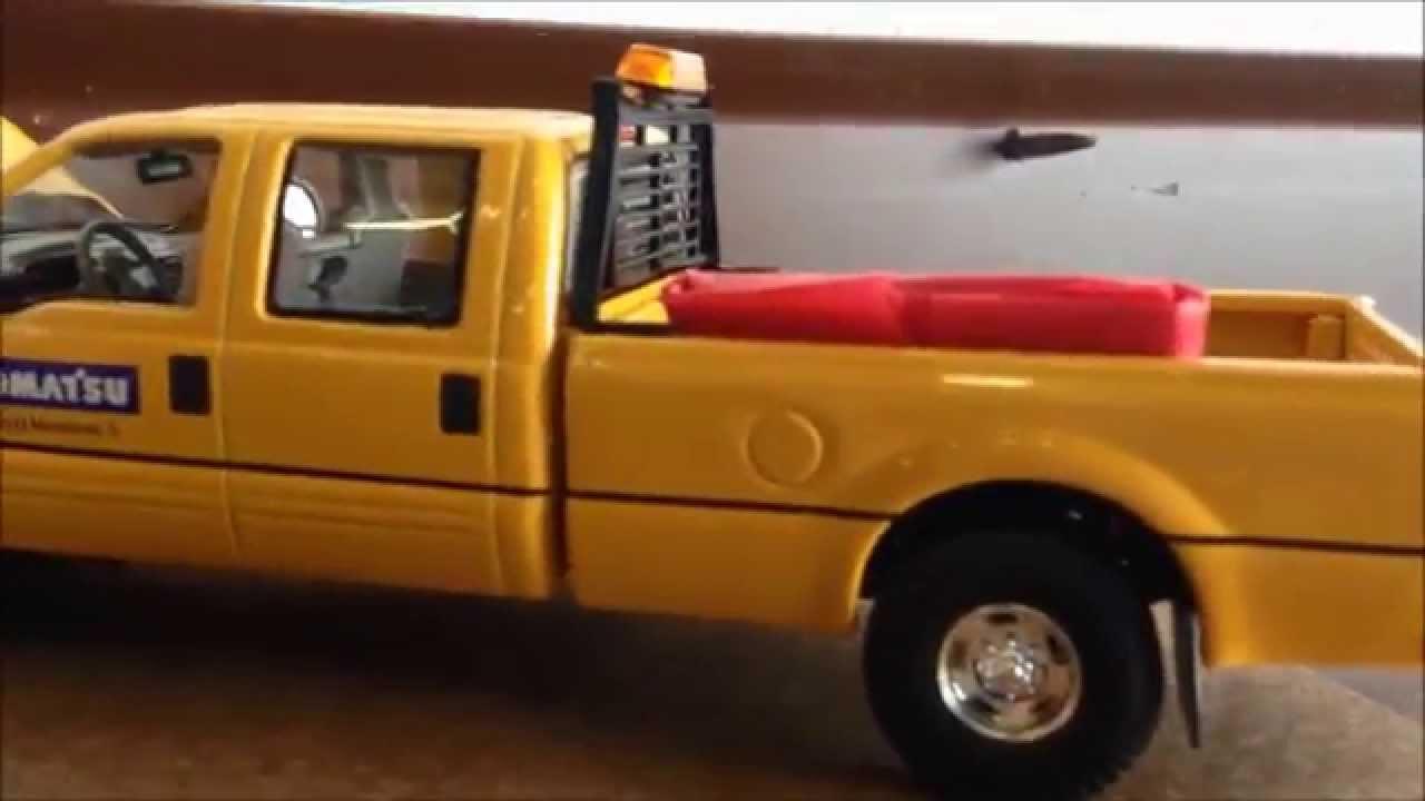Komatsu Toy Diecast Metal Ford 250 Truck Youtube