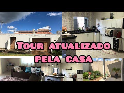 TOUR PELA CASA ATUALIZADO / MOSTREI A CASA TODA DETALHADAMENTE