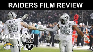 Raiders Film Review: Week 10 vs Chargers
