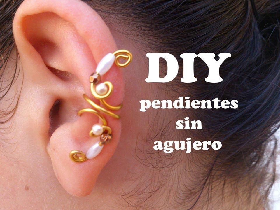 2aad3a96d06f DIY Como hacer pendientes o aretes sin agujeros con alambre de aluminio.  Earring