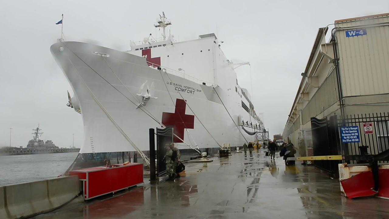 Navy Hospital Ship USNS Comfort Prepares to Deploy to NY