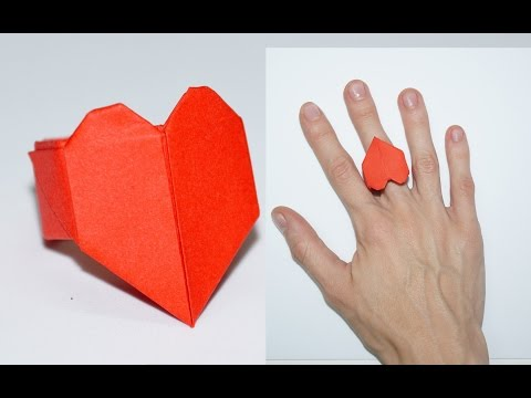 DIY paper crafts - ideas for valentines day - heart ring / Julia DIY