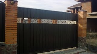 Изготовление откатных металлических ворот(http://texnoblogs.blogspot.com/ Изготовление металлических ворот Откатные ворота - одни из самых популярных ворот для..., 2014-09-30T06:20:57.000Z)