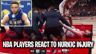 NBA Players REACT To NURKIC INJURY! Jusuf Nurkic Injury Reactions