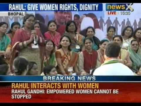 Breaking News: Battle station 2014; Rahul Gandhi interact with women workers in Bhopal - NewsX