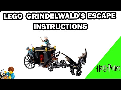 Carriage /& Instructions *NEW* Lego Fantastic Beasts Grindelwald/'s Escape 75951