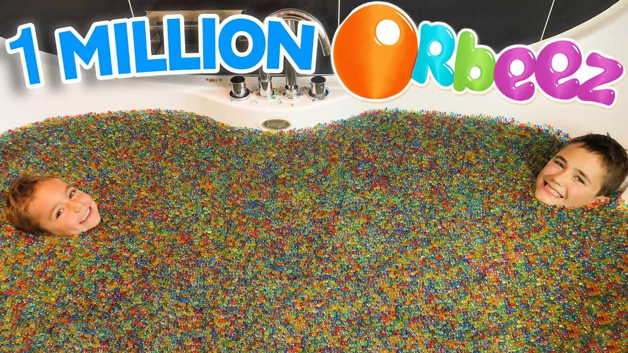 1 million d orbeez dans un bain g ant orbeez bath party spa youtube for Photo dans un bain