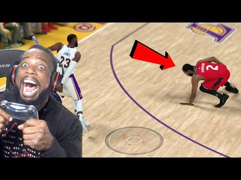 LEBRON BROKE KAWHI'S ANKLES! Lakers vs Raptors NBA 2K19 MyCareer Ep 100! thumbnail