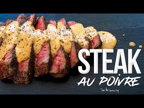 Wagyu Steak au Poivre - Pepper Steak Recipe | SAM THE COOKING GUY 4K