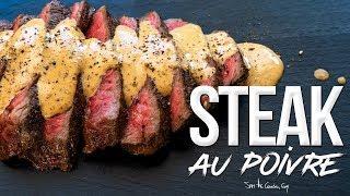 Wagyu Steak au Poivre - Pepper Steak Recipe | SAM THE COOKING GUY 4K