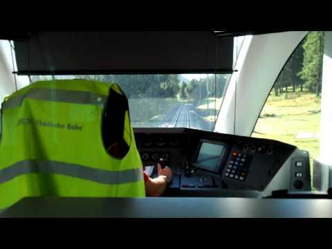 Bernina Express Train Cab View