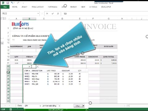 Tìm kiếm và lọc giá trị trong danh sách nhiều cột | Drop Down List Excel