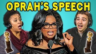 ADULTS REACT TO #TimesUp (Oprah