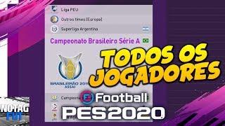 PES 2020 - TODOS OS TIMES BRASILEIRÃO SÉRIE A   JOGADORES E FACES LICENCIADOS!