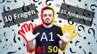 Разговорный немецкий язык, урок 5 (41-50):  10 вопросов  - 10 ответов