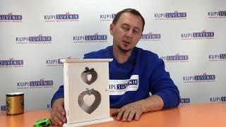 Видеообзор ключницы настенной «Два сердца»