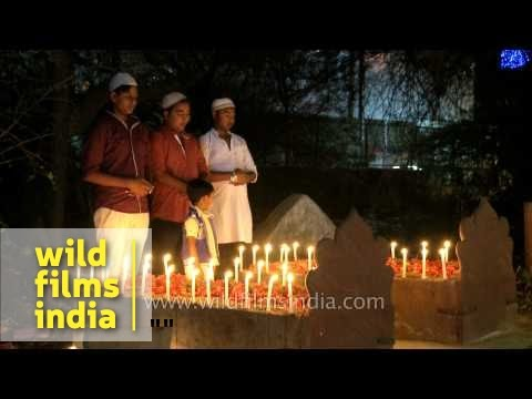 People illuminated the graves of their relatives during Shab-e-Barat