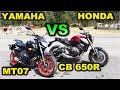 Yamaha Mt   07 Vs Honda Cb 650 R   Blitz Rider