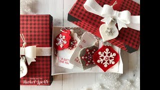 Handmade Holiday 2018 | Lawn Fawn Felt Ornament Tags with Gift Boxes