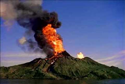 volcano erupting YouTube