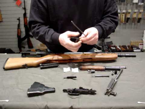 EOD SKS disassembly and cleaning kit use.