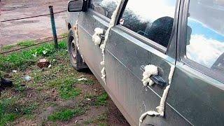 ЧТО ДЕЛАТЬ!?!? Двери на машине ЗАПЕНИЛИ монтажной пеной!