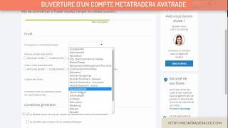 Metatrader 4 : Trader en reel - Ouverture d'un compte SÉCURISÉ - Avatrade Broker