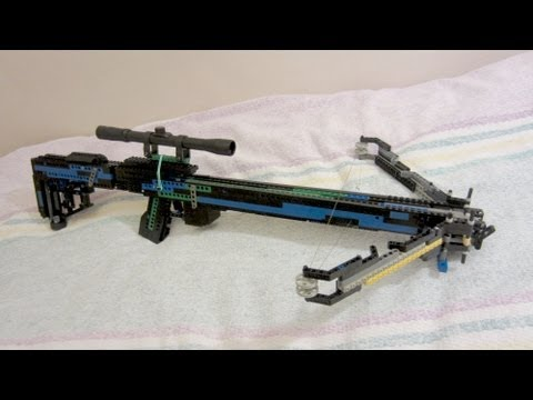 how to make a lego crossbow that shoots easy