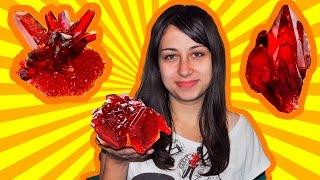 Как вырастить красивые красные кристаллы в домашних условиях?(В этом видео я покажу вам способ выращивания красного кристалла из красной кровяной соли. Для этого нам..., 2015-10-21T11:08:31.000Z)