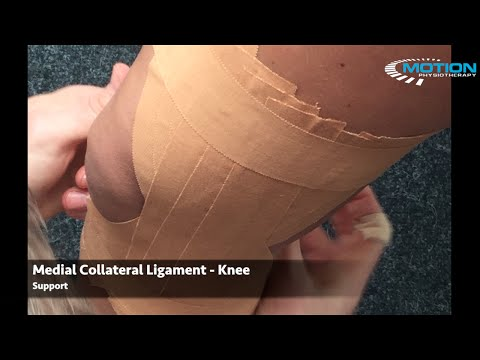 How to tape a knee - MCL / medial collateral ligament / medial pain / sprain - sports taping series