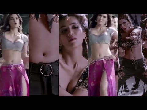 Kriti Sanon hot navel boobs lips ass Aao Kabhi Haveli Pe Stree sexy song edit zoom slow motion thumbnail
