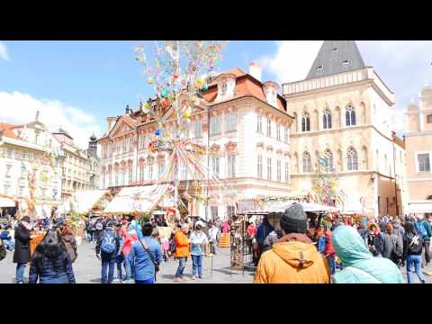 CZ: Prague City Centre. Czech Republic. Sights and Sounds. April 2017