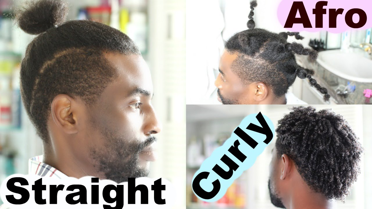 From Curly To Afro To Straight Hair   Men Hairstyles | Josiphia Rizado    YouTube