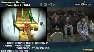 Super Mario Galaxy 2 :: SPEED RUN in 3:14:43 by Yoshifan  #AGDQ 2014