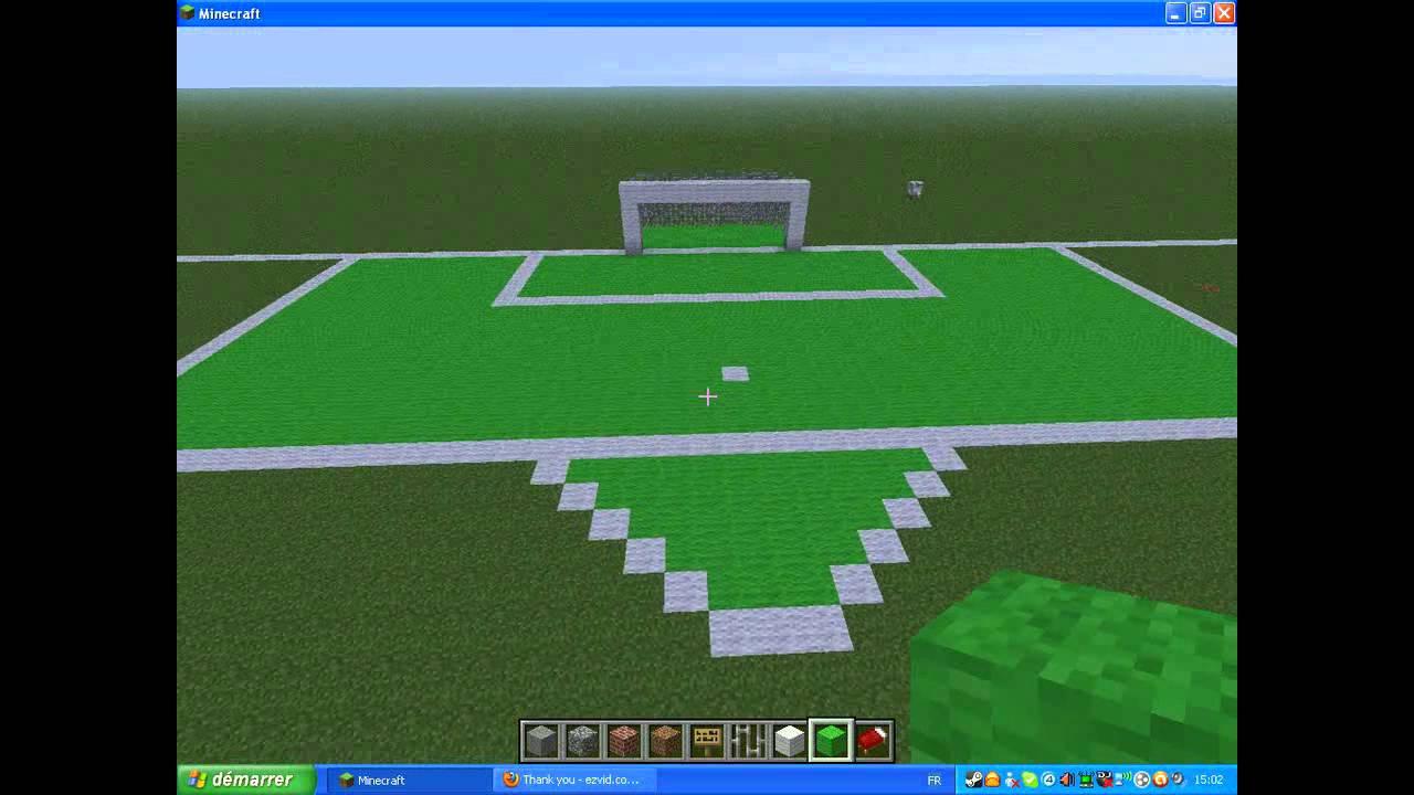 Premier But De Mon Futur Stade De Foot Minecraft YouTube