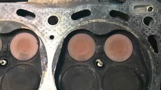 Прогар клапанов 3RZ-FE из- за газа.