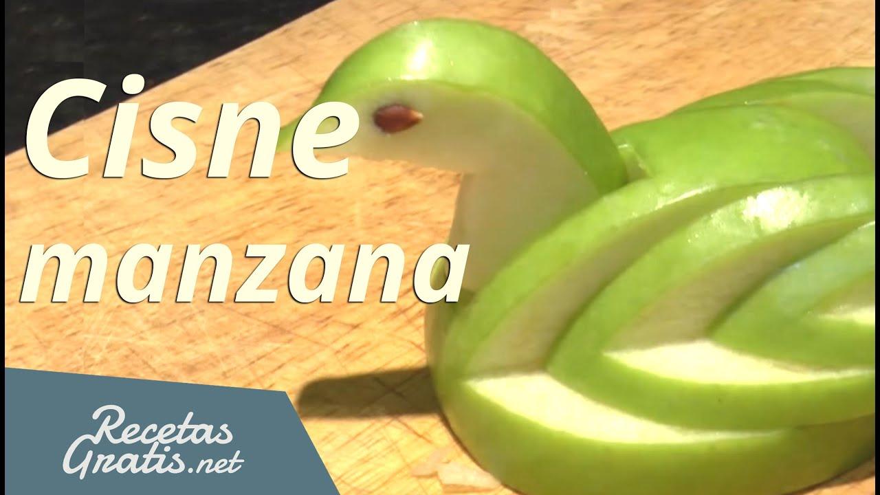Hacer un cisne con una manzana apple swan youtube - Cuchillos para decorar fruta ...