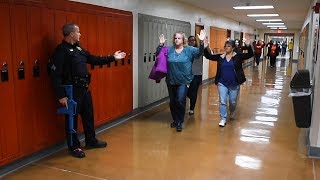 Inside an active shooter training at CNY high school