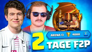 😨🏆+4000 TROPHÄEN in 2 TAGEN... | Free 2 Play Challenge | Clash Royale Deutsch