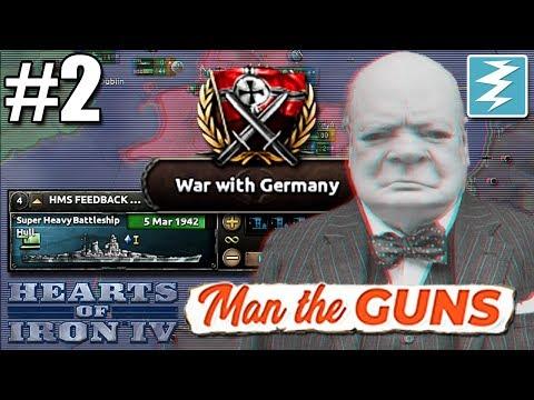 HEAVIER THAN THE YAMATO??? [2 of 3] UK - Hearts of Iron IV Man The Guns |