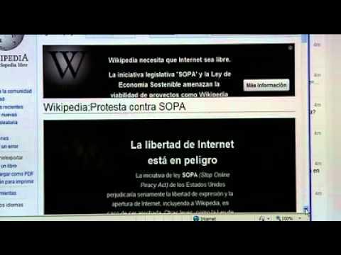 Wikipedia en inglés cierra 24 horas en protesta contra la ley SOPA
