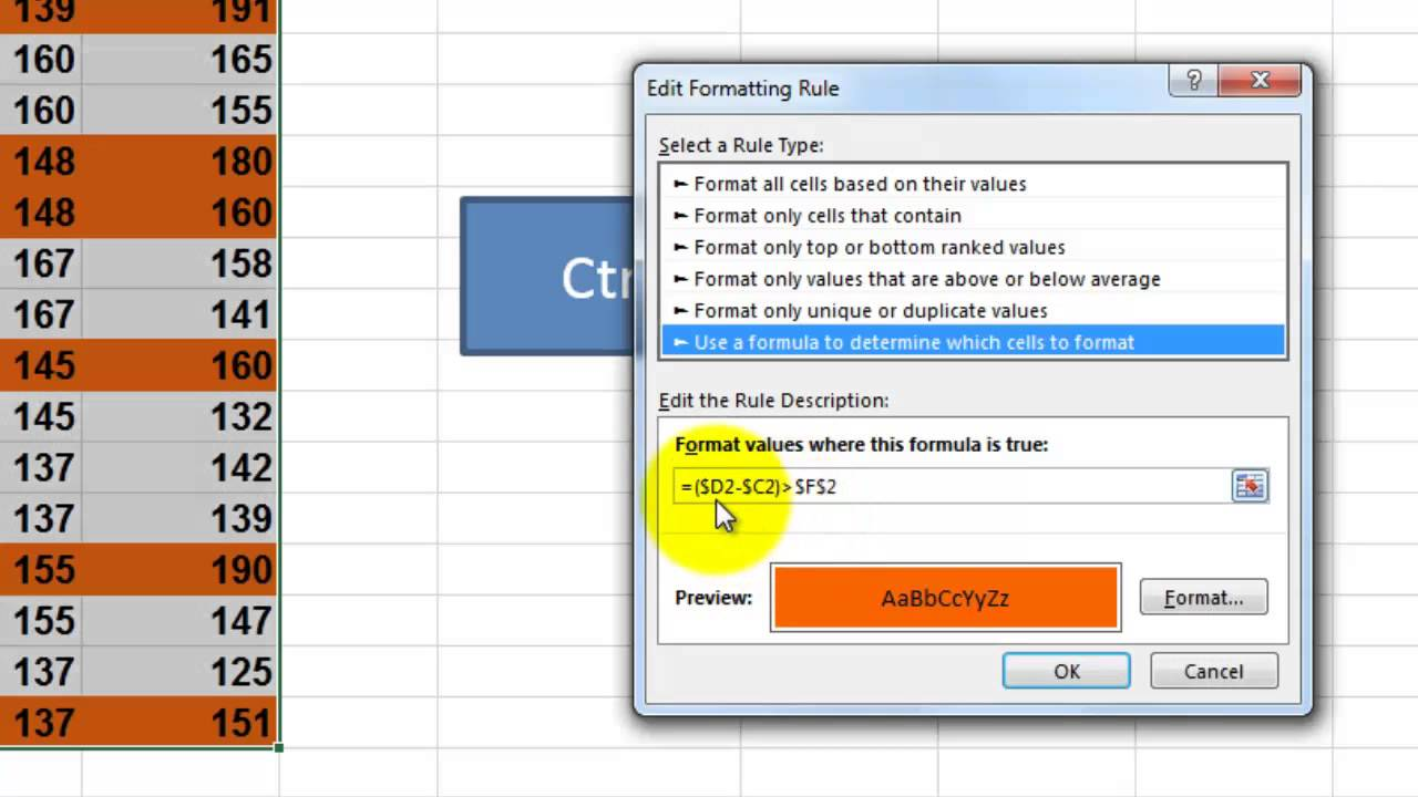 Conditional Formatting Functions in VBA