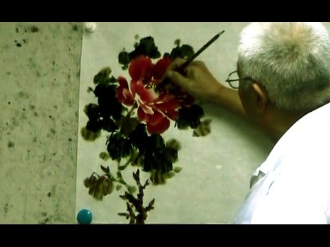 Traditional Chinese Painting : Peony Flowers Paintings by Master Artist