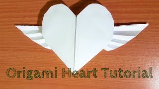 Easy Origami Heart with Wings Video Instructions