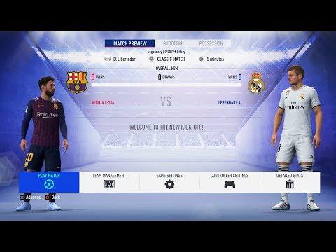 FIFA 19 - Barcelona Vs Real Madrid FULL GAMEPLAY - 1080P/PS4