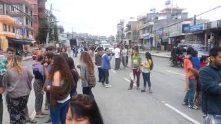 Pokhara Nepal 7.8 Earthquake Video 1 April 25 2015